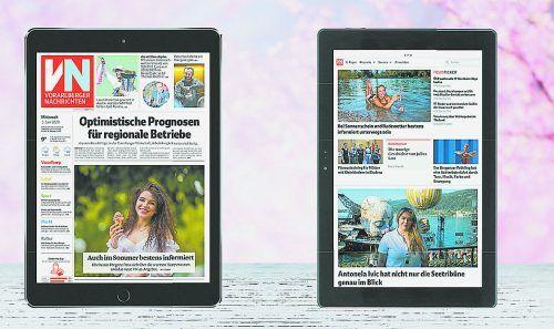 Ein neues Tablet inklusive VN-Digital gibt es für Abonnenten der täglichen, gedruckten Zeitung bereits ab 9,90 Euro pro Monat.VN
