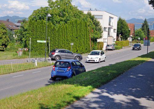 Eine Busspur entlang der Bruggerstraße ist in Höchst in Planung, mit dieser Spur wird auch der Radweg auf dem Damm breiter angelegt.