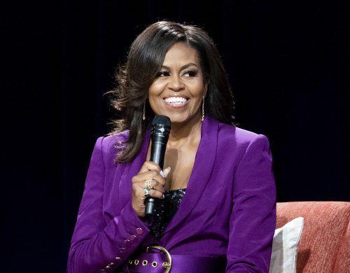 Michelle Obama wird in die National Women's Hall of Fame aufgenommen. AP