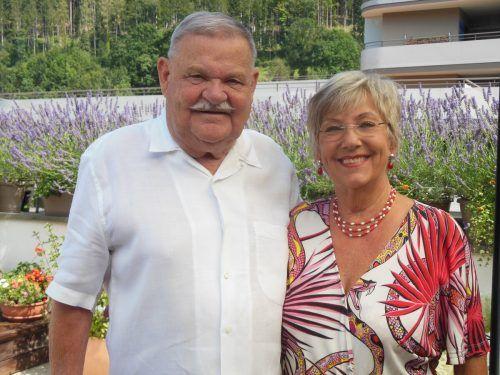 Für die Zukunft wünschen sich Gerti und Peter Schenk vor allem Gesundheit und es fein zu haben. KL