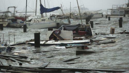 """""""Hanna"""" verwüstete den Yachthafen von Corpus Christi. AP"""