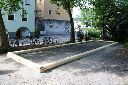 Die Bocciabahn in der Neustadt wird entfernt und an anderer Stelle wieder errichtet.Stadt