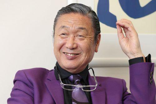 Modedesigner Kansai Yamamoto war für futuristische Entwürfe bekannt.AP