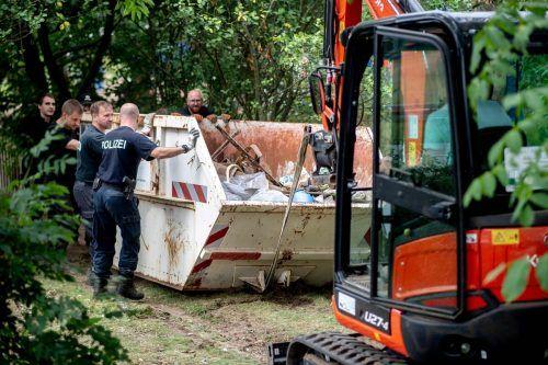 Polizisten hatten das Grundstück zwei Tage lang durchkämmt. AFP