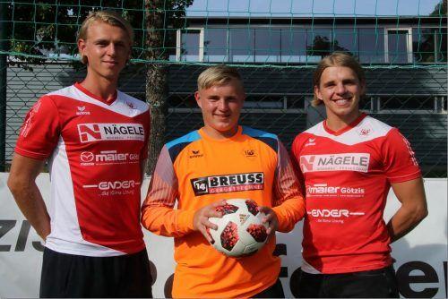RW-Brüdertrio: Jeremy, Robin und Marvin Bischoff (von links).Knobel