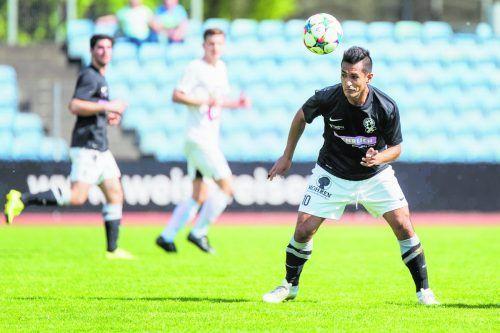 Sidinei de Oliveira zieht im Spiel von SW Bregenz die Fäden.VN/STiplovsek
