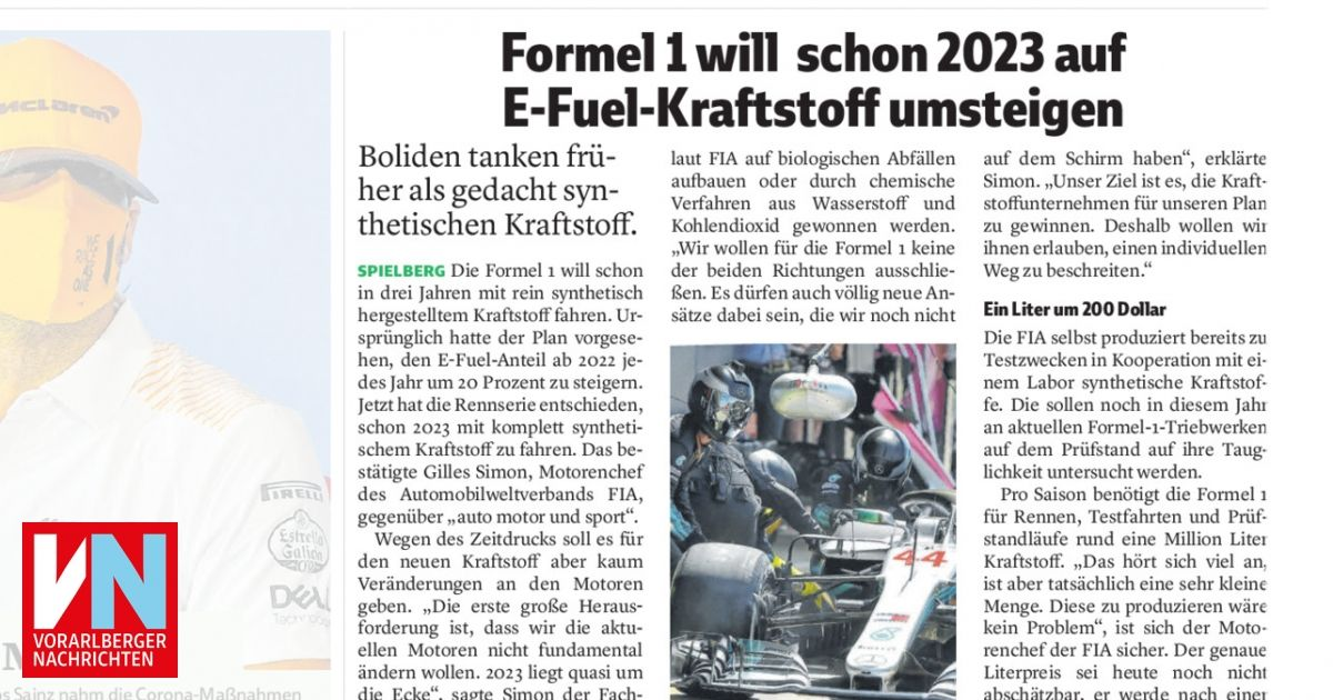 Formel 1 Kraftstoff
