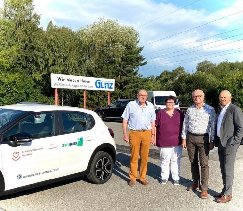 Vor Kurzem erhielt der Krankenpflegeverein ein neues Dienstfahrzeug der Markte Citroën. Dieser ersetzt den zwölf Jahre alten Vorgänger. kpv nüziders