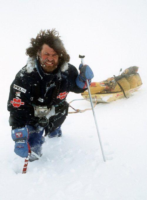 1990 war Messner mit Ski und Lastenschlitten auf Antarktis-Expedition.Dpa (3)