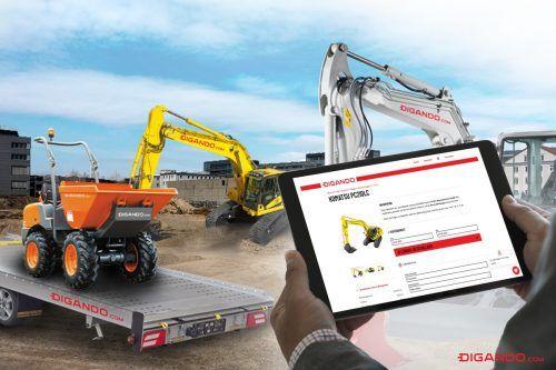 6000 Baumaschinen stehen österreichweit auf der Onlineplattform Digando.com zur Miete bereit. Nun plant das Unternehmen seine Expansion. digando