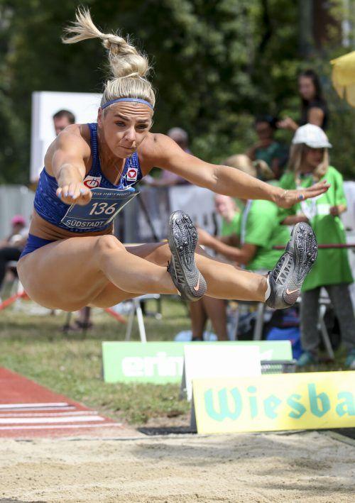 6,41 Meter lautet derzeit die persönliche Bestmarke von Siebenkämpferin Ivona Dadic im Weitsprung.gepa