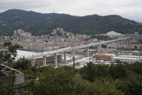Am Montagabend wurde die neue Autobahnbrücke in Genua eingeweiht. Ap