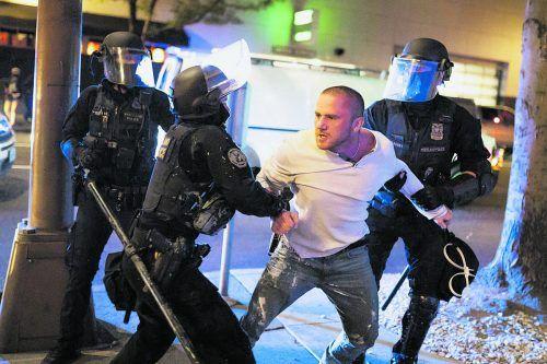Am Rande von Protesten in Portland wurde ein Mann erschossen.AFP