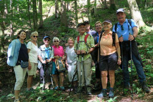 An einem heißen Sommertag fanden die Mitglieder des Seniorenbundes Göfis Abkühlung bei einer Wanderung im Saminatal. Seniorenbund Göfis