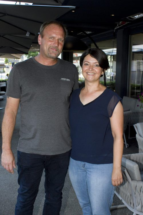 Andreas und Sonja Rupfle lauschten irischen Klängen.
