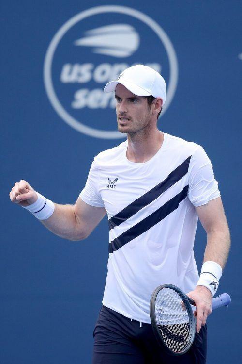 Andy Murray gewann sein erstes Einzel heuer und feiert gelungenes Comeback.apa