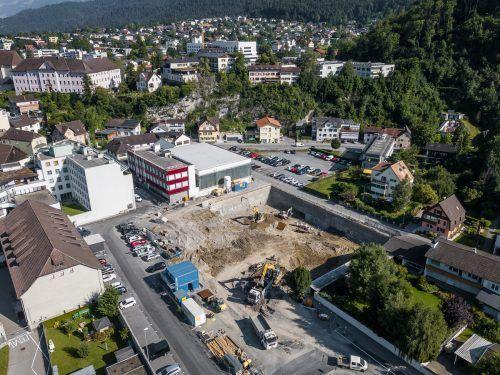 Auf dem einstigen Viehmarktgelände in Bludenz entsteht in den nächsten zwei Jahren der neue Firmensitz der Firma Jäger Bau. VN/Steurer