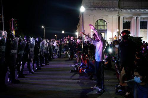 Auslöser der Proteste war der Tod eines Afroamerikaners. Dem Mann wurde von Polizisten in den Rücken geschossen. AFP
