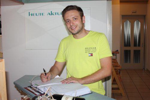 Bali Shabani ist neuer Geschäftsführer des Schwarzen Adler in Rankweil. VN-TK