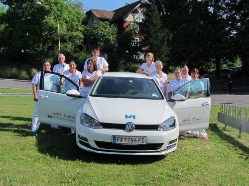 Das mobile Dialyse-Team fährt seit zehn Jahren durch Vorarlberg. Insgesamt wurden 65 Patienten behandelt. KHBG