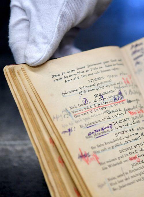 """Das Regiebuch von Max Reinhardt zum """"Jedermann"""". APA"""