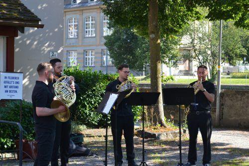 Das Rheingold-Quartett zog die Aufmerksamkeit des Publikums auf sich.