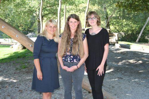 Das Team: Helene Gädeke, Marlene Burtscher und Janine Burtscher.Gemeinde