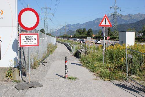 Der Radweg in Bürs wird heuer auf Vordermann gebracht. Aus diesem Grund ist die vorübergehende Sperre eines Teilstücks erforderlich. VN/JS