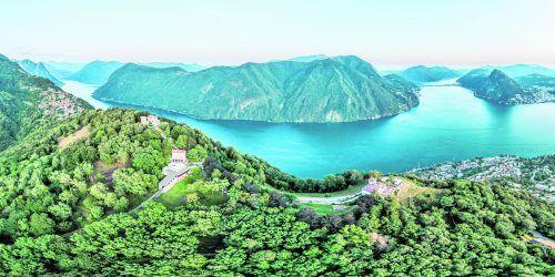 Der schöne Luganersee erstreckt sich bis nach Italien.Shutterstock