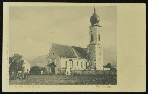 Die alte Pfarrkirche um das Jahr 1900.