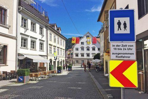 Die Bregenzer Anton-Schneider-Straße bleibt abends weiterhin autofrei.fst