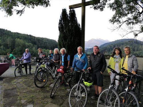 Die Fahrradgruppe am Liebfrauenberg in Rankweil. Anschließend ging die Fahrt wieder zurück nach Dornbirn. eh