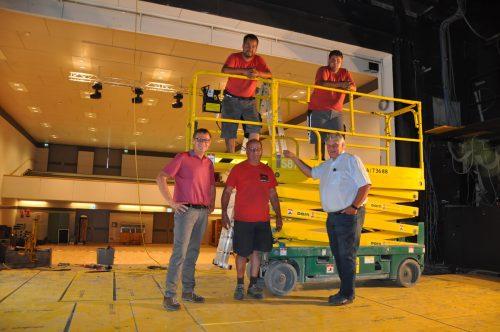Die komplette Bühnentechnik im Stadtsaal wird derzeit um 500.000 Euro auf den neuesten Stand der Technik gebracht. Stadt Bludenz
