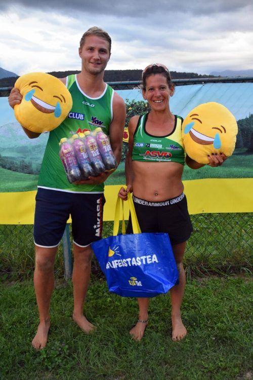 Die Montfort-Open-Sieger Johannes Millitzer und Monika Prugg.
