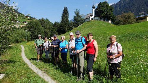 Die Pensionisten aus Partenen wanderten vorbei an der Kapelle Maria Schnee bis nach St. Gallenkirch. PV Partenen
