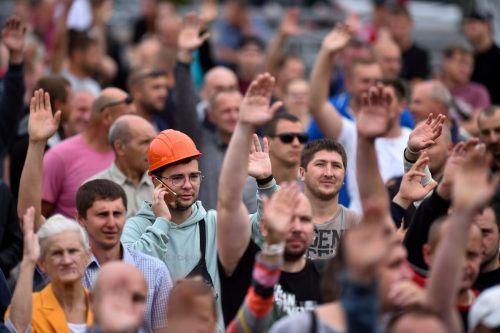 Die Proteste gegen das Wahlergebnis in Weißrussland nehmen kein Ende. AFP