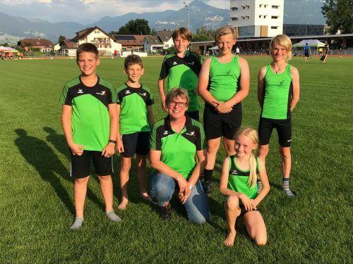 Die Teilnahme beim Abendmeeting in Lustenau hat sich für die Atlehten der Turnerschaft Weiler gelohnt. Verein/Leitner