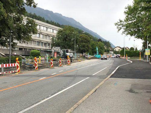 Die Umlegungsarbeiten im Bereich der Pädagogischen Hochschule gehen in die finale Phase. VN/WIM