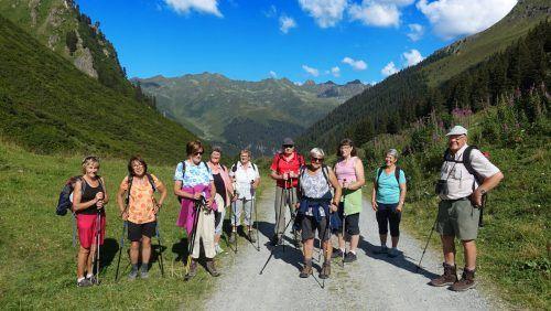 Die wanderfreudigen Pensionisten aus Partenen genossen einen herrlichen Ausflug zur Alpe Vergalden.PVÖ Partenen