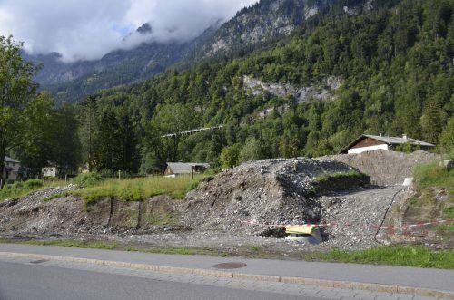 Die Wasser- und Kanalleitungen für die neuen Baugrundstücke wurden bereits verlegt. dob