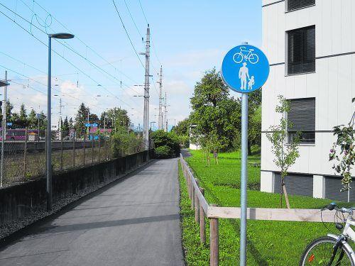 Die Zahl der Rad- und Gehwege wächst in Dornbirn weiter. HA