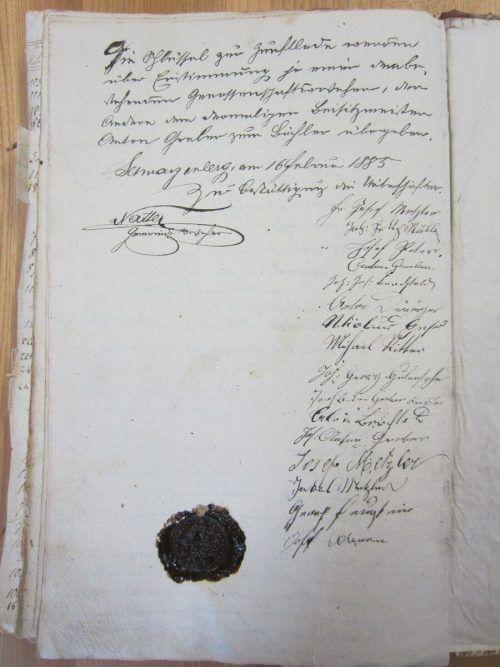 Dokument zur umfangreichen Gewerbegeschichte des Ortes.