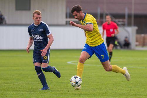 Dominik Fessler war nicht zu halten und erzielte zwei Treffer gegen Lauterach. Stiplo