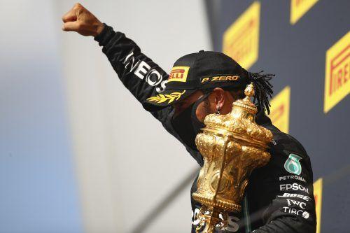 Dritter Saisonerfolg für Lewis Hamilton, für den Weltmeister war es der siebte Heimsieg in Silverstone. ap