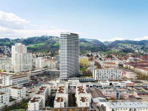 Durch spezielle Wärmedämmsysteme können beim Bruckner Tower die Energiekosten gering gehalten werden. CWL