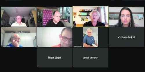 Eine der Diskussionen mit einem Teil des VN-Leserbeirats. Die Diskussionen wurden coronabedingt virtuell abgehalten.