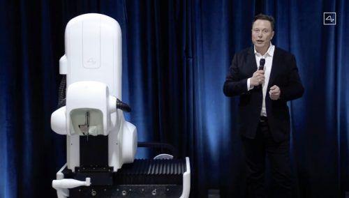 Elon Musk präsentierte einen Prototypen seiner Firma Neurolink. AFP