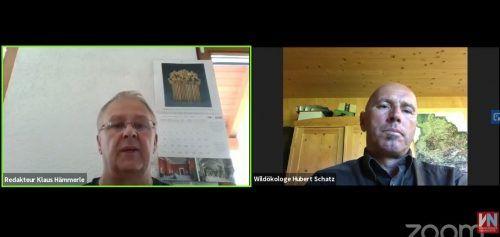 Es gibt viele Fragen, mit denen sich Wildbiologe Hubert Schatz (55) täglich auseinandersetzen muss. VN-Redakteur Klaus Hämmerle stellte ihm einige davon. VN