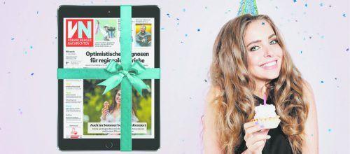 Feiern Sie mit: Tablet und VN-Digital gibt es jetzt für VN-Abonnenten bereits ab 9,90 Euro im Monat.vn
