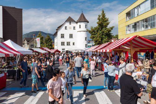 Zum 40. Mal wird das Zentrum von Götzis zum bunten Marktplatz. WG Götzis